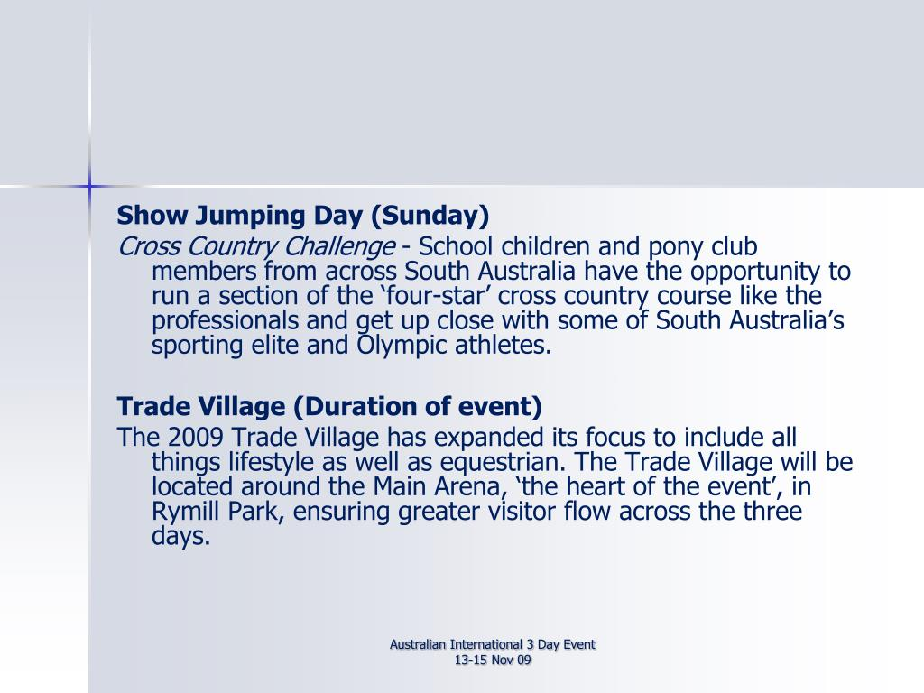 Show Jumping Day (Sunday)
