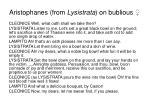 aristophanes from lysistrata on bublious
