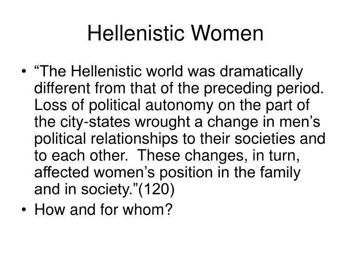 Hellenistic Women