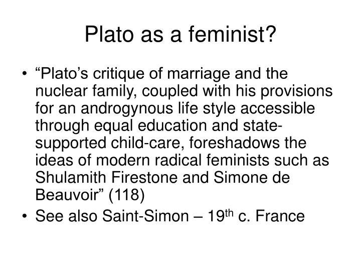 Plato as a feminist?