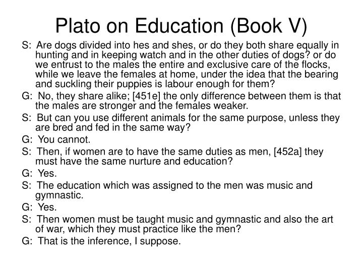 Plato on Education (Book V)