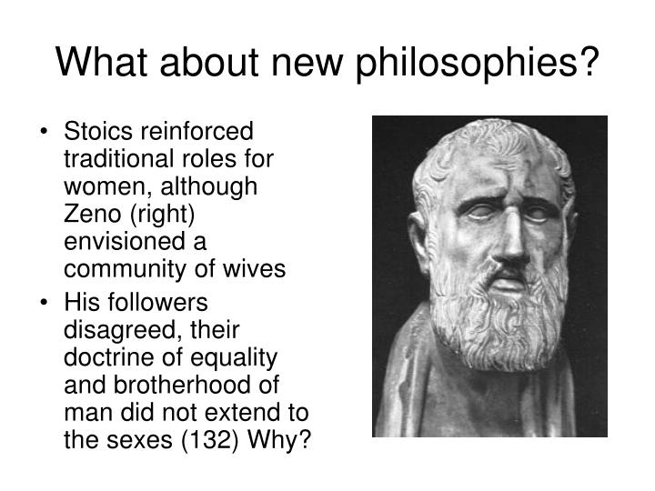 What about new philosophies?
