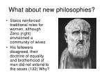 what about new philosophies