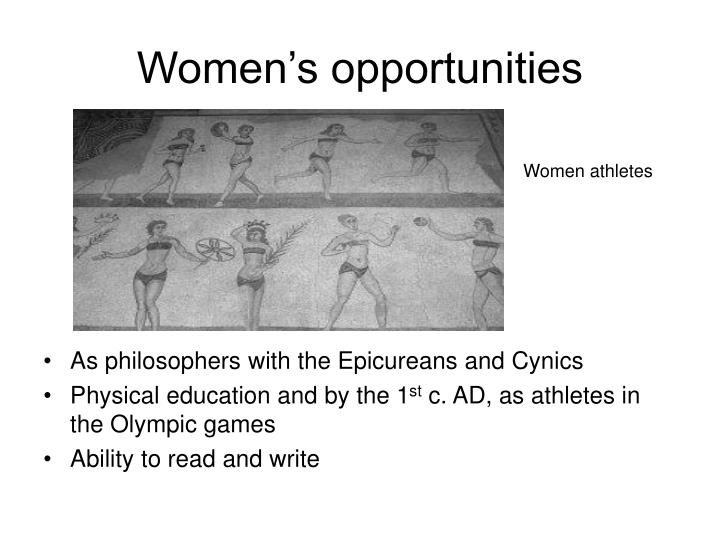 Women's opportunities