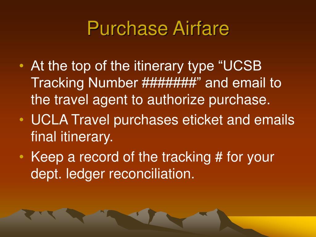Purchase Airfare