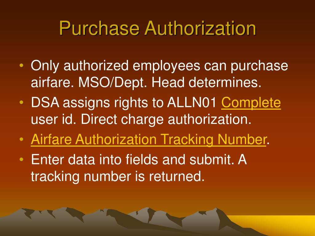 Purchase Authorization