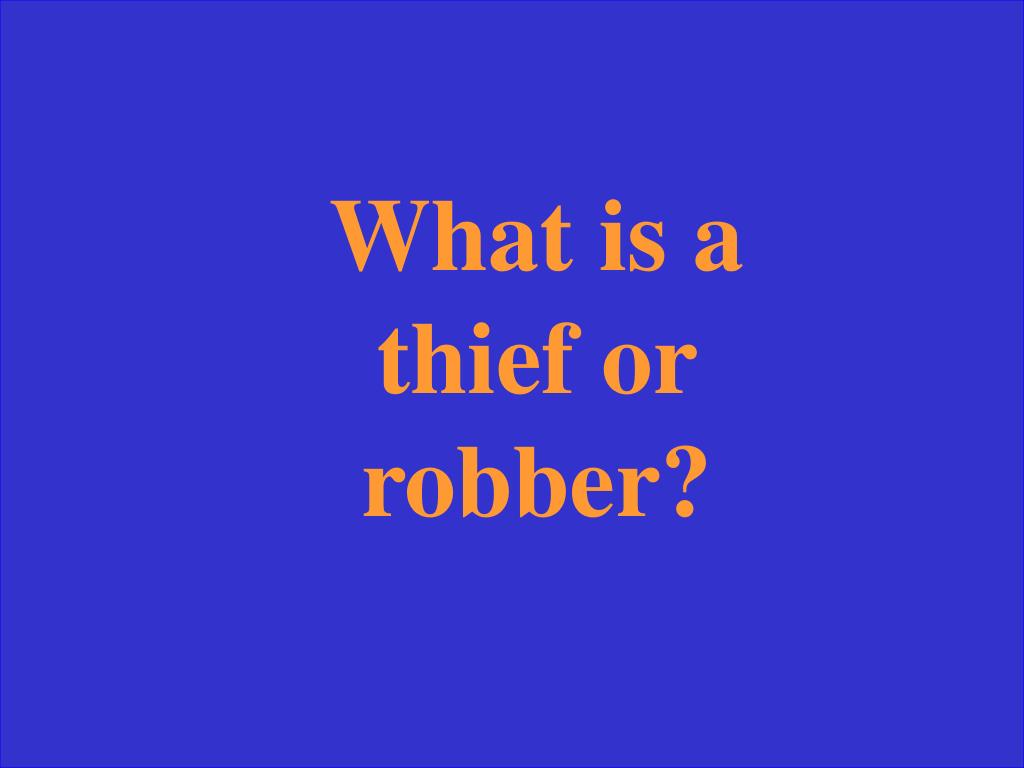 What is a thief or robber?