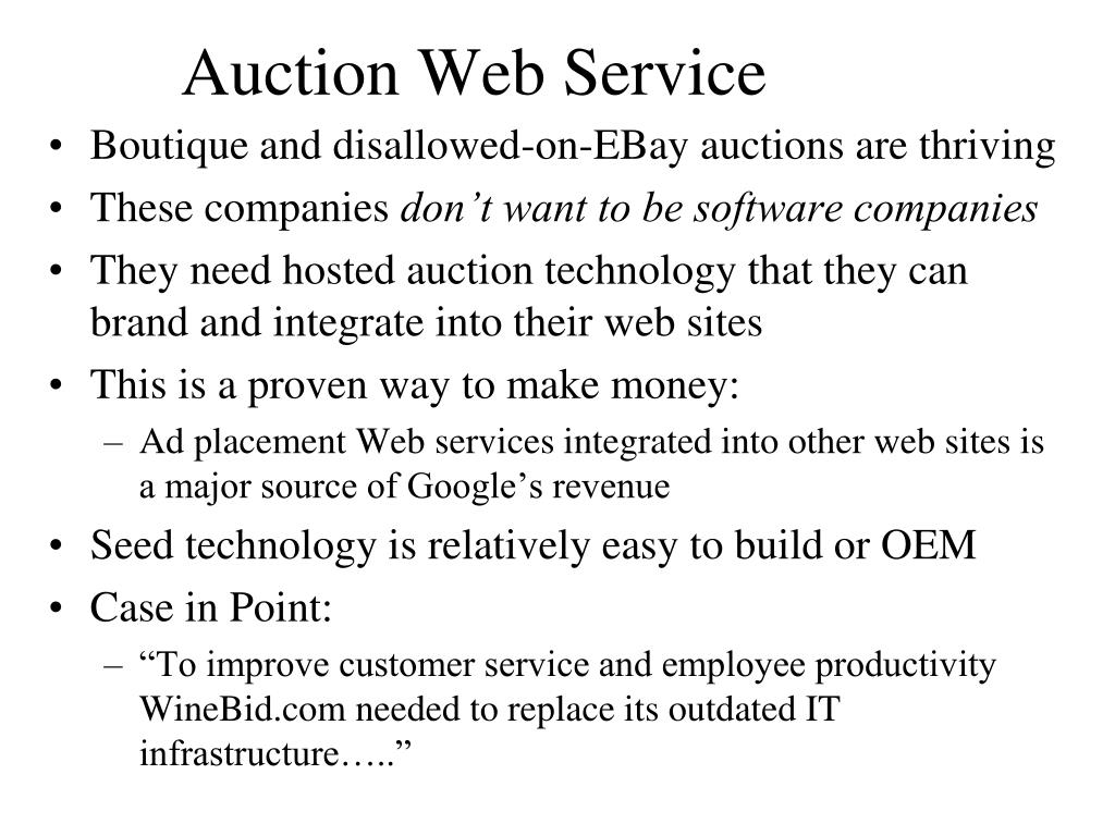 Auction Web Service