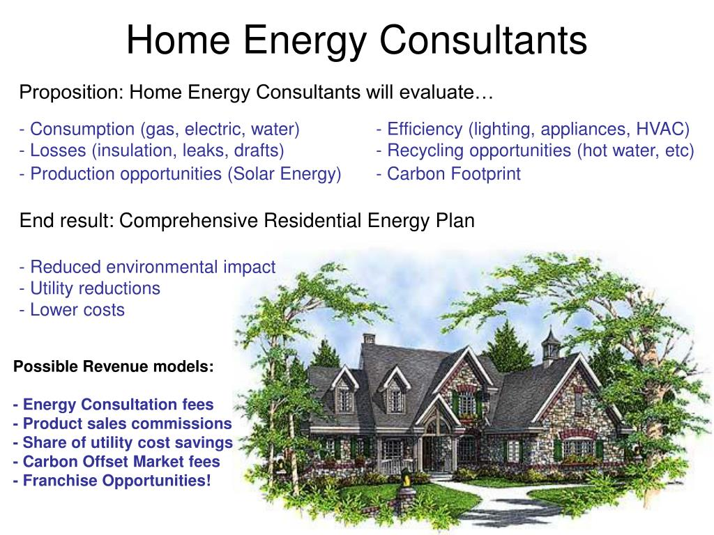 Proposition: Home Energy Consultants will evaluate…