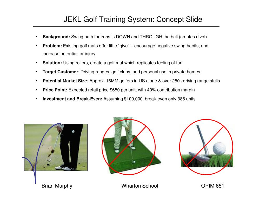 JEKL Golf Training System: Concept Slide