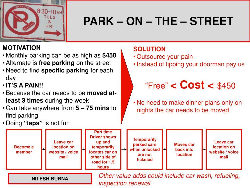 PARK – ON – THE – STREET