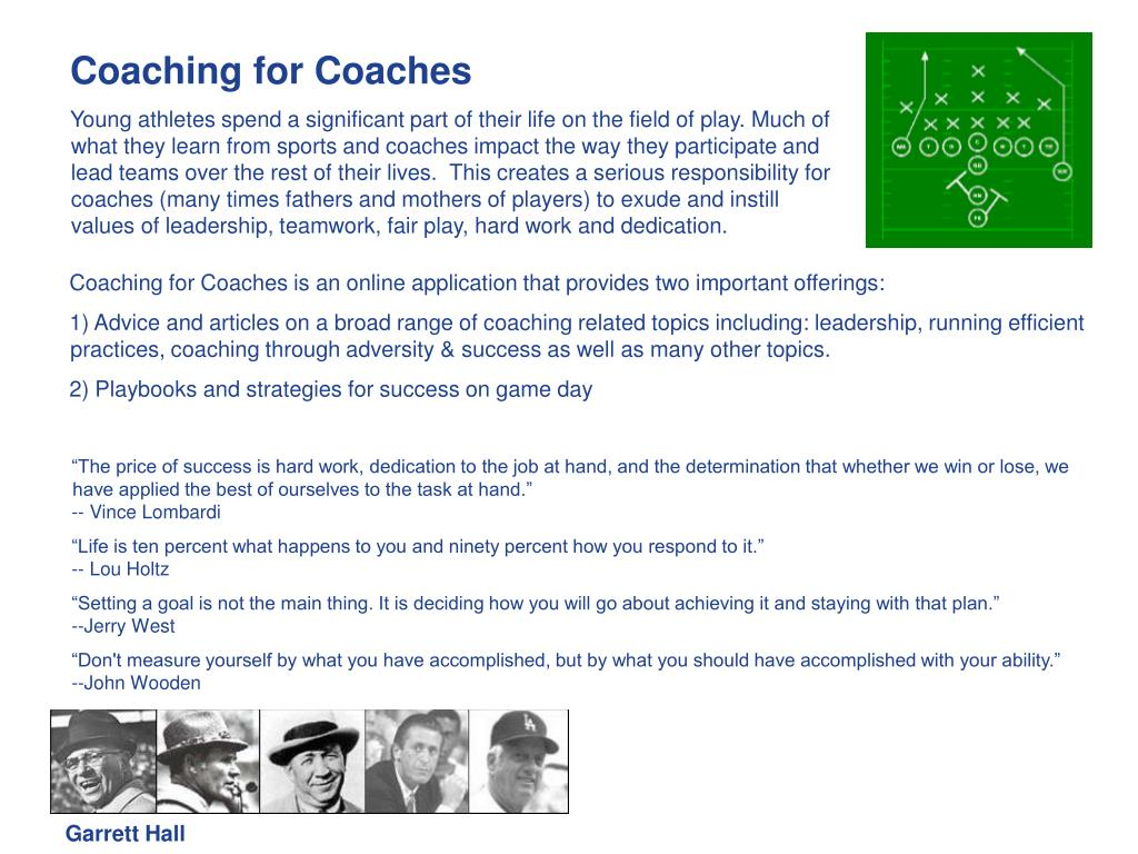 Coaching for Coaches