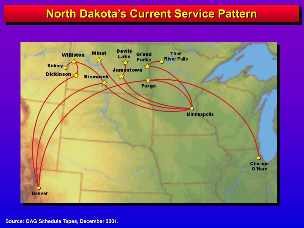 North Dakota's Current Service Pattern