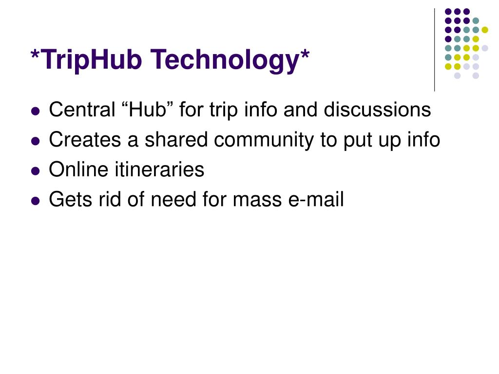 *TripHub Technology*