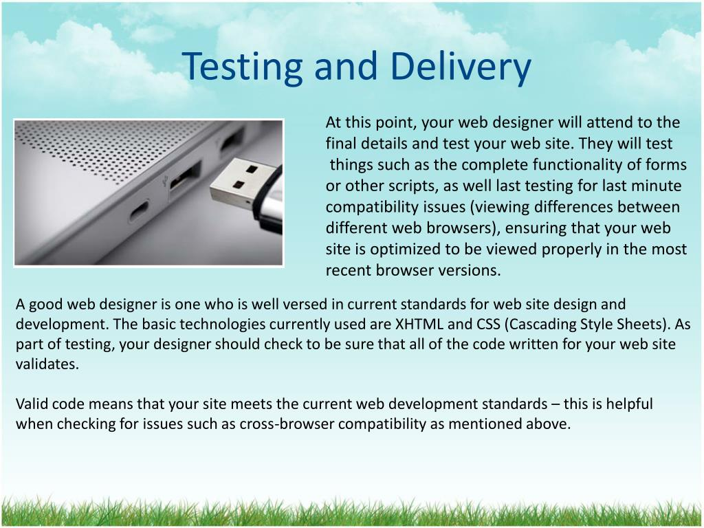 Testing and Delivery