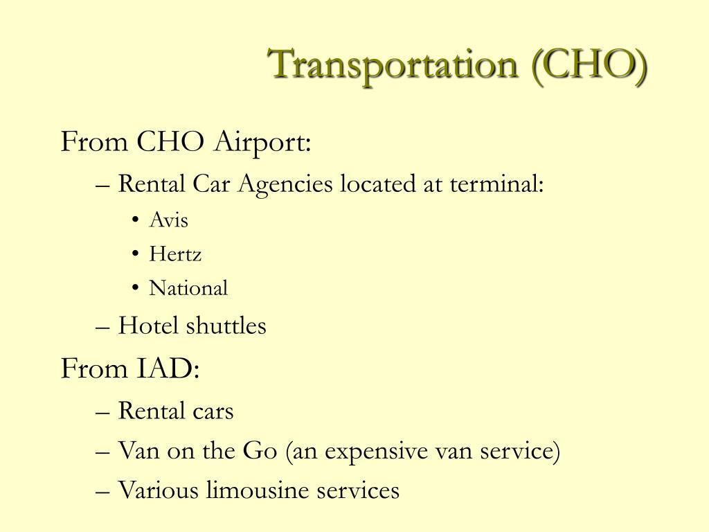 Transportation (CHO)