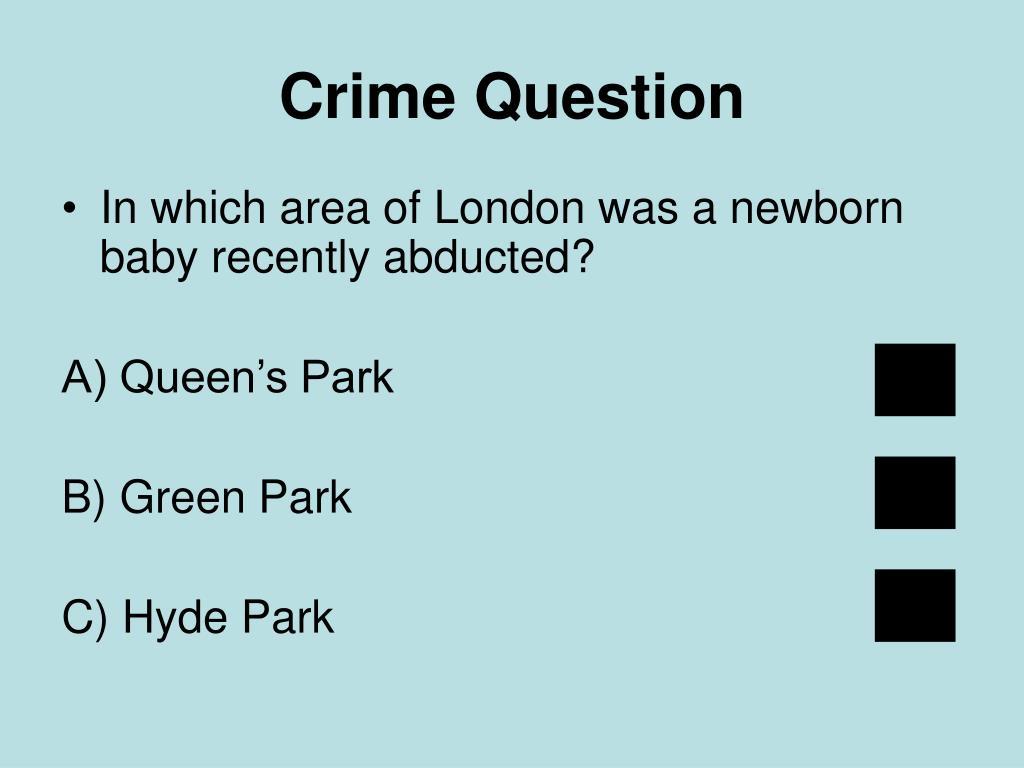 Crime Question