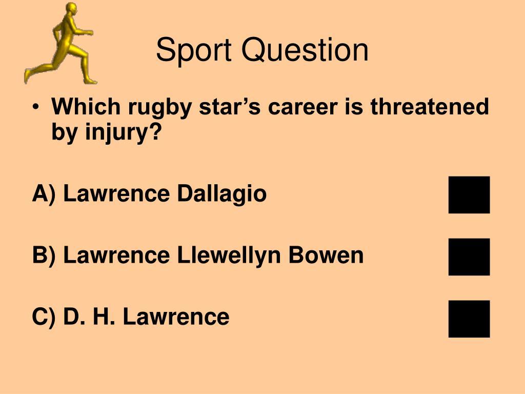 Sport Question