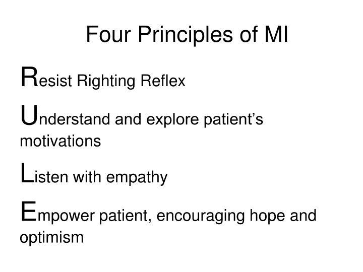 Four Principles of MI