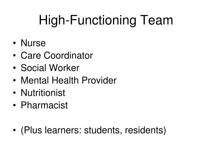 High-Functioning Team