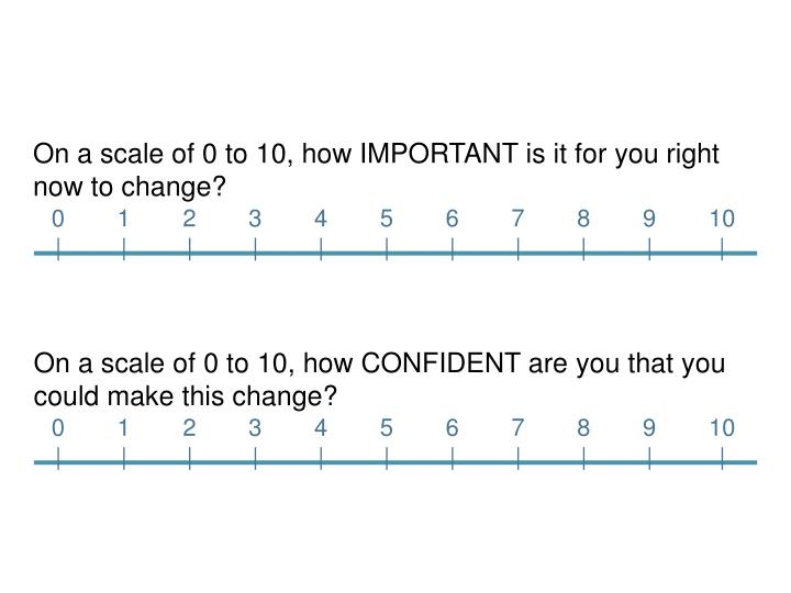 On a scale of 0 to 10, how IMPORTANT is it for you right