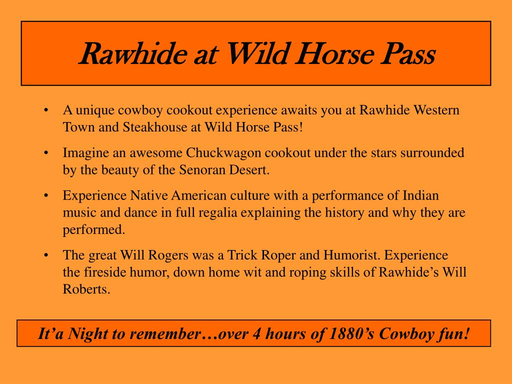 Rawhide at Wild Horse Pass