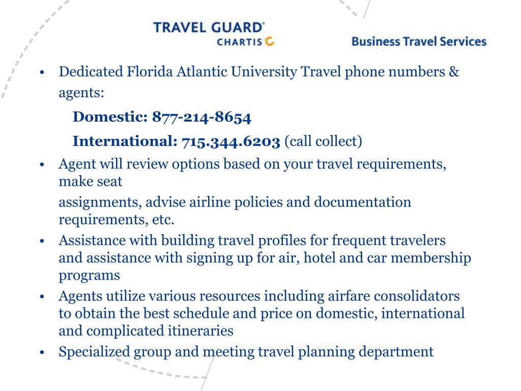 Dedicated Florida Atlantic University Travel phone numbers & agents: