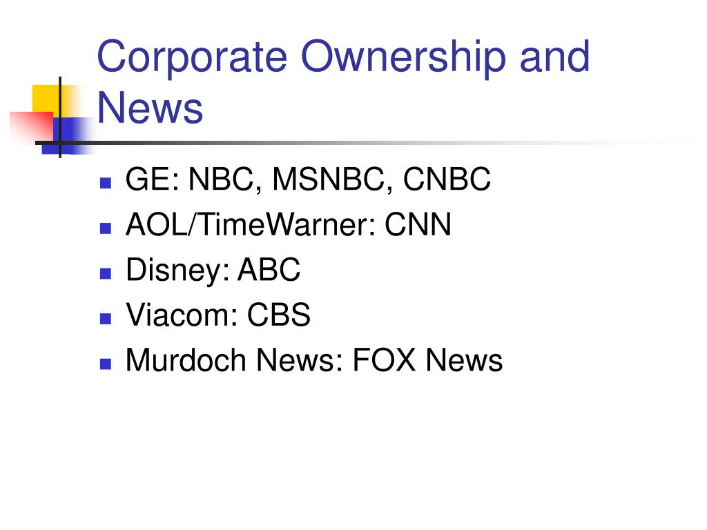 Corporate Ownership and News