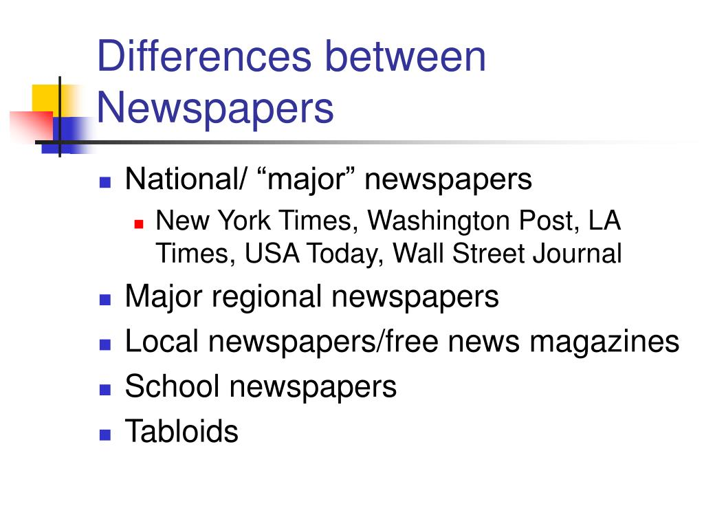 Differences between Newspapers