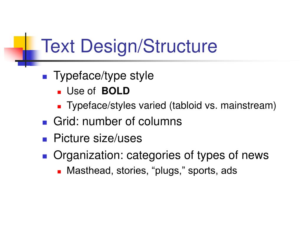 Text Design/Structure