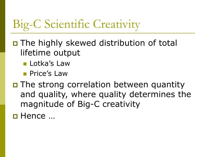 Big c scientific creativity