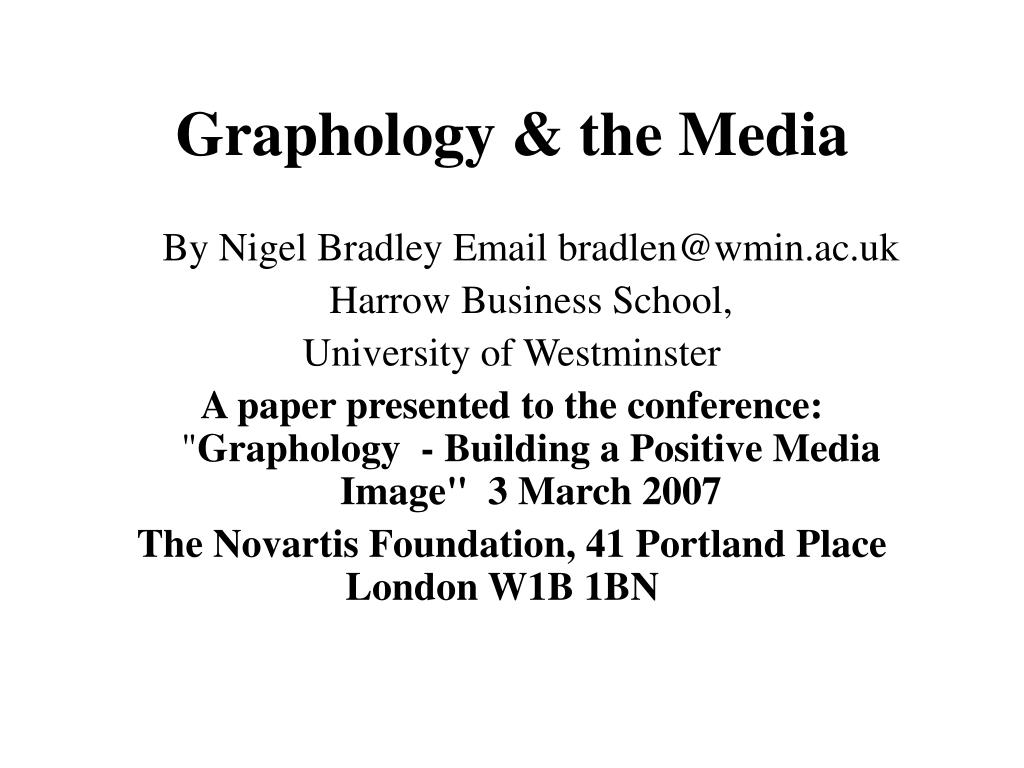 Graphology & the Media