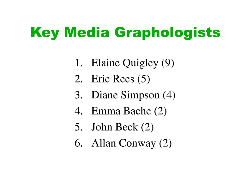 Key Media Graphologists