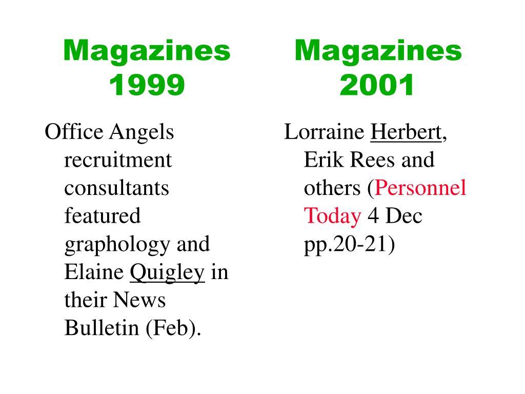 Magazines 1999