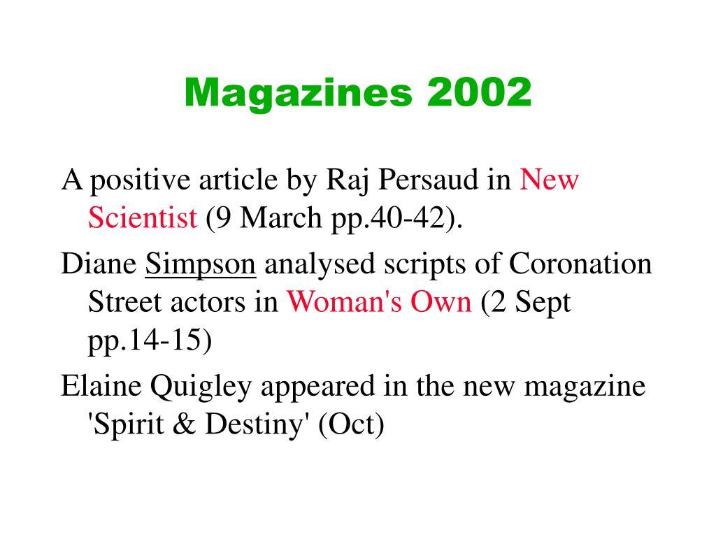Magazines 2002