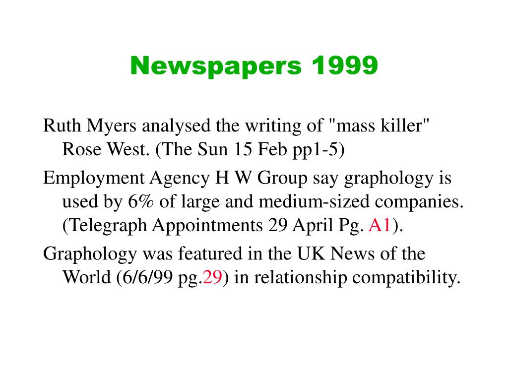 Newspapers 1999
