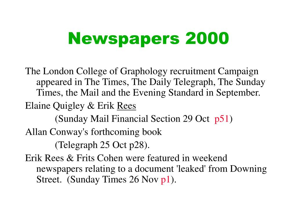 Newspapers 2000