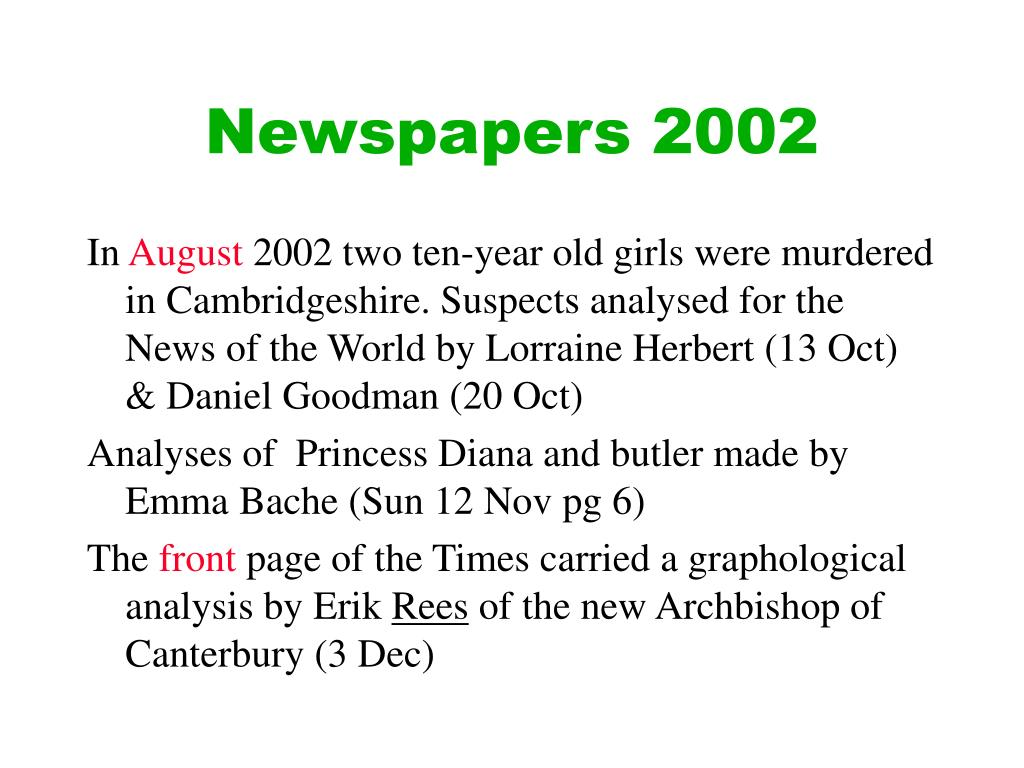 Newspapers 2002