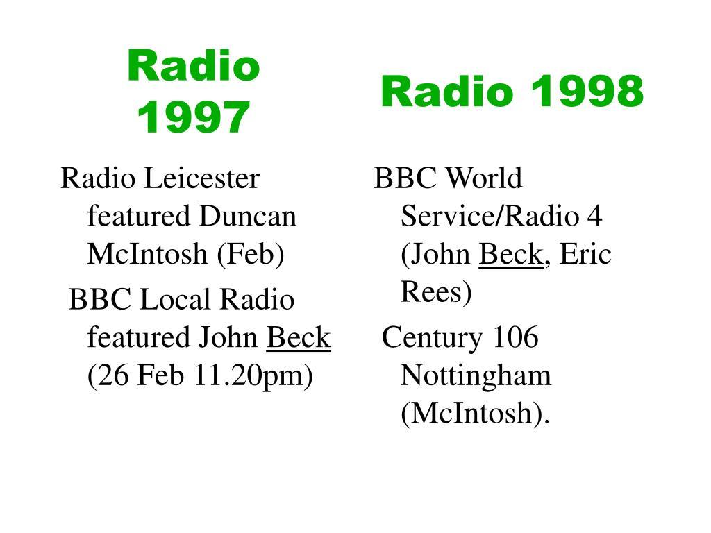 Radio 1997