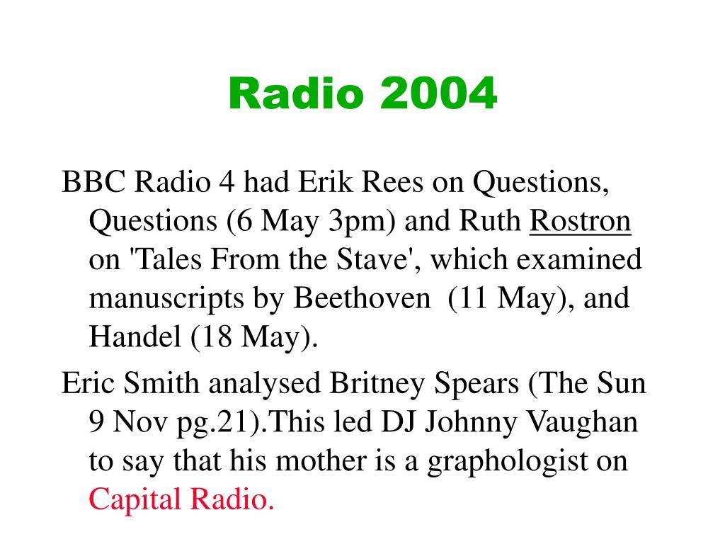 Radio 2004