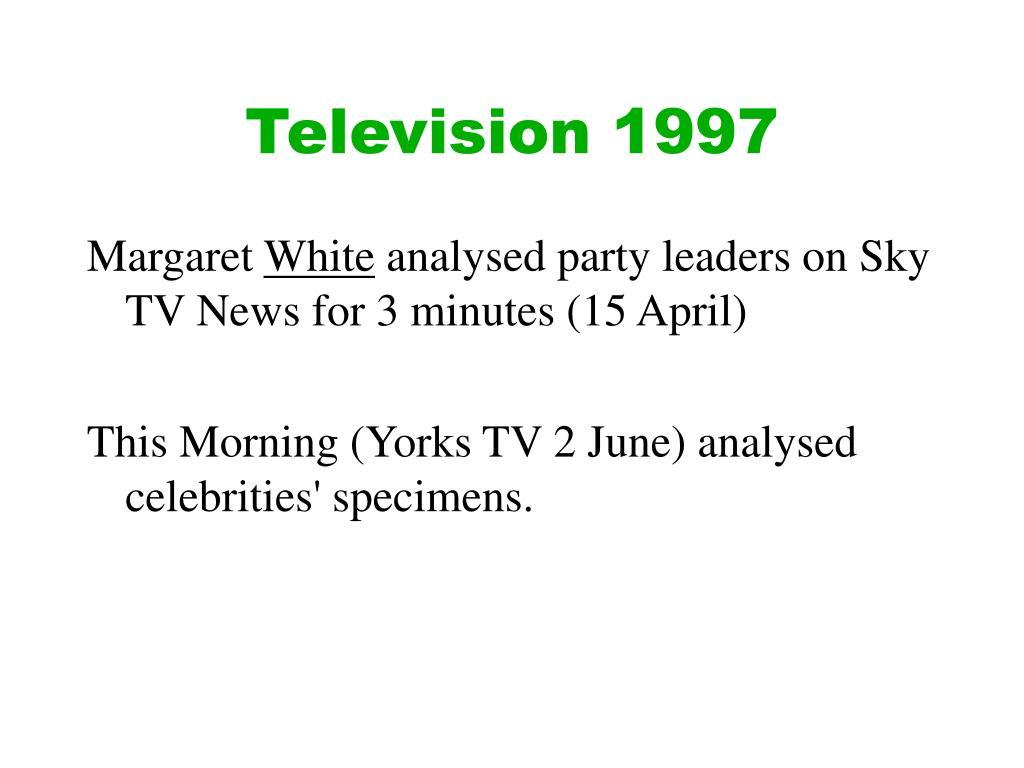 Television 1997