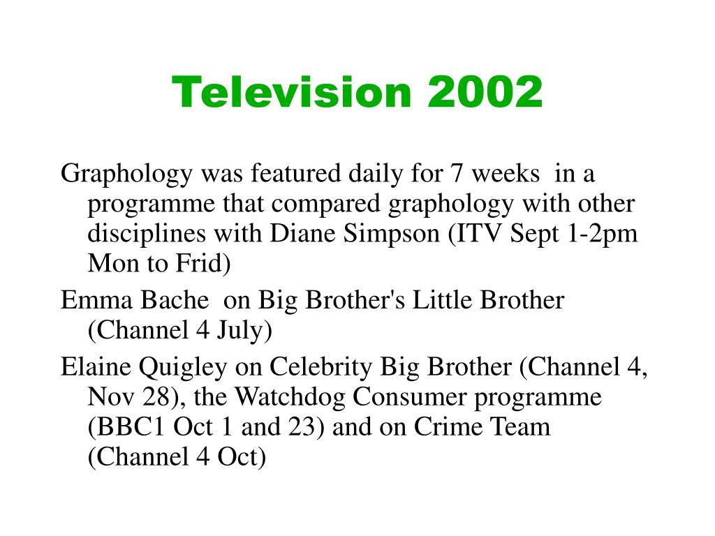 Television 2002