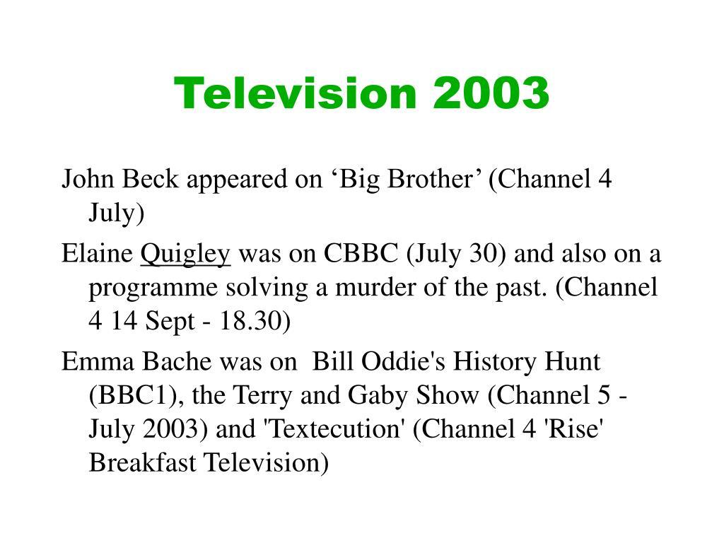 Television 2003