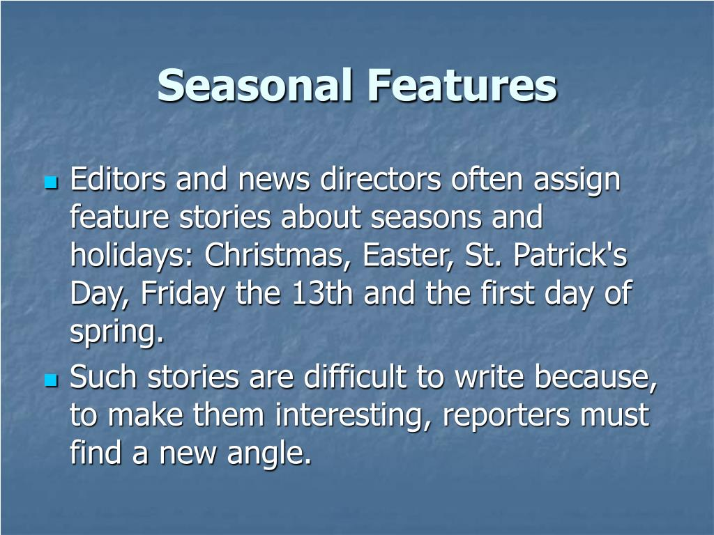 Seasonal Features