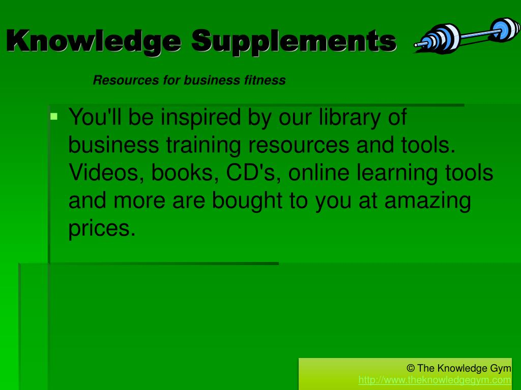 Knowledge Supplements