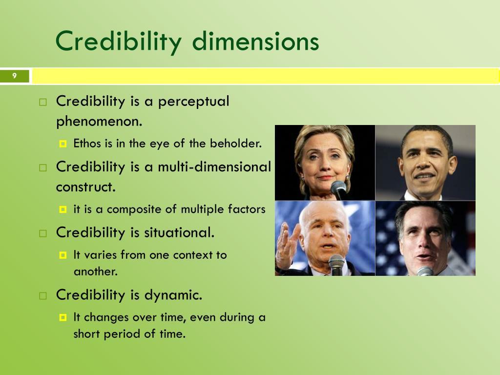Credibility dimensions