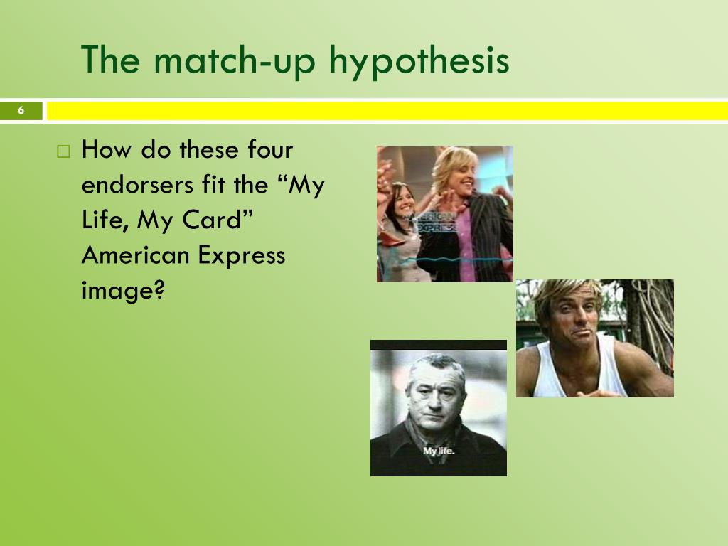 The match-up hypothesis