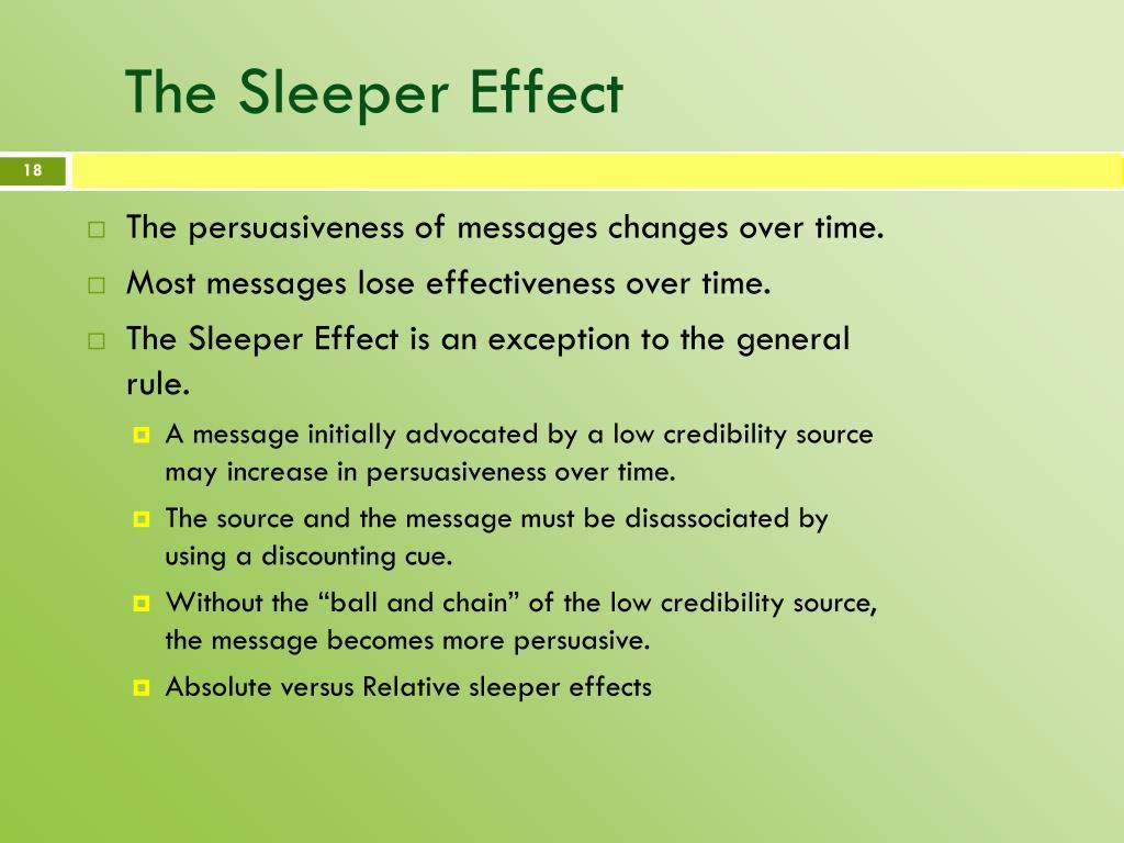 The Sleeper Effect