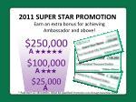 2011 super star promotion