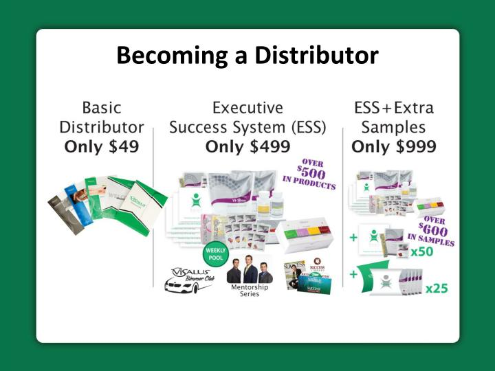 Becoming a distributor
